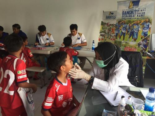 Screening Gelombang Pertama IJL U-9 dan U-11 2020, Kesehatan Gigi Pemain Jadi Sorotan