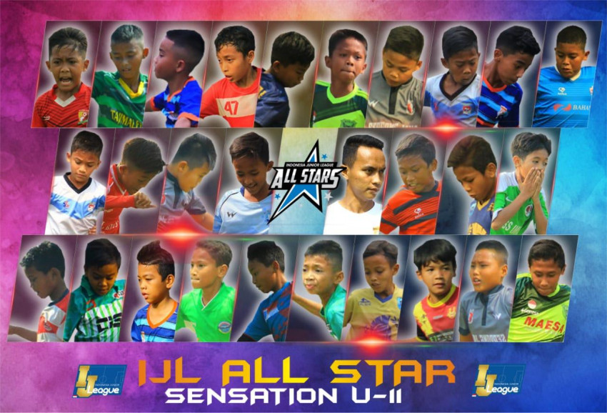 Susunan Pemain IJL All Stars U-11 Grup Sensation: Orkestra Rumput Hijau