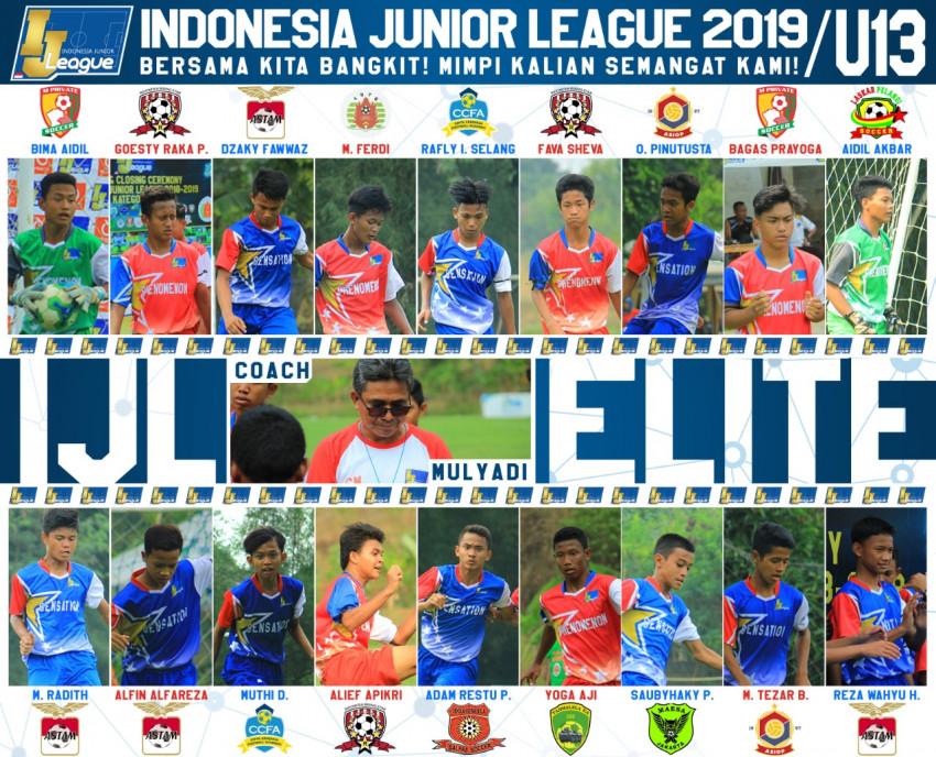 Berikut Susunan 18 Pemain IJL Elite U-13
